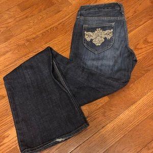 Express Stella Boot Embellished Pocket Jeans - 0
